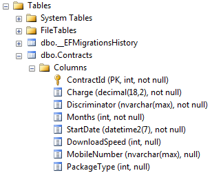 Entity Framework Core Table Per Hierarchy